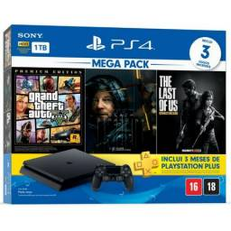 Video Game Playstation 4 Slim Play 4 Ps4 1 Tera 3 Jogos