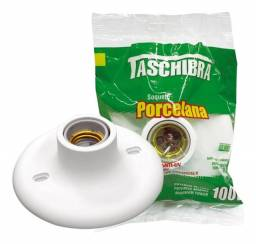 Título do anúncio: Bocal Plafonier Plafon Soquete Porcelana 100w Branco Taschibra - Branco
