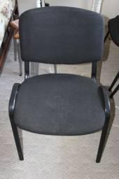 Cadeira de Escritório em Tecido/Ferro Preto Fixa Office