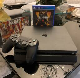 PS4 Slim + Call of Duty Black Ops 4 (lacrado)