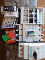 Lote de componentes elétricos
