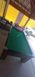 Mesa de Bilhar Gaveta Imbuia Tecido Verde Modelo FFF5547