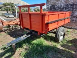 Carreta Agrícola basculante 1 eixo 2 rodas