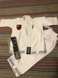 Kimono judô jiu-jitsu Seishin infantil Flamengo com faixa