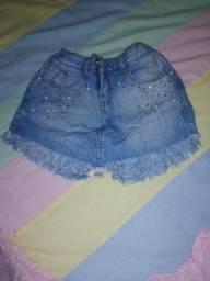 Short saia jeans Palomino