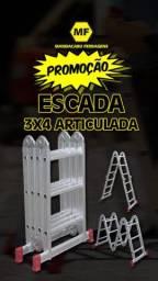 Escada 12 degraus articulada