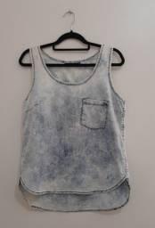Regata Jeans com Bolso TNG