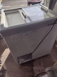 Frizer gelopar 220 litros tampa de vidro