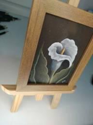 Mini Quadro Flor Copo de Leite