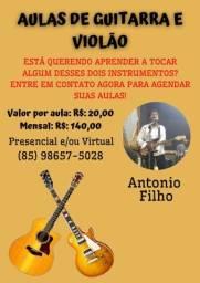 Aulas de violão e guitarra para iniciantes e intermediários