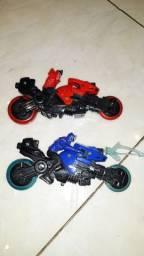 BONECOS POWER RANGERS NA MOTO