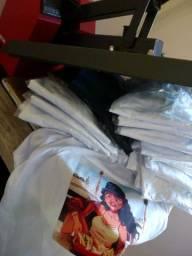 Kit Camisetas T-Shirt Brancas (Sublimação)