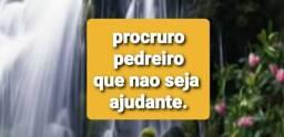 PEDREIRO,QUE SEJA PROFISSIONAL.