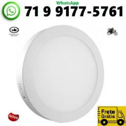 Título do anúncio: Plafon 24w Redondo Sobrepor Painel Led Branco Frio Bivolt Luminaria (NOVO)