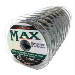 Linha Monofilamento Max Force 0,37mm 12,6kg - caixa 1000 Metros novo!!