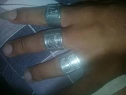 Anel de prata pura
