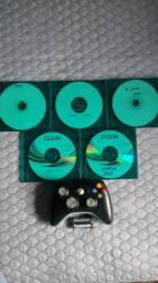 Controle X-BOX 360(Original) +5 jogos