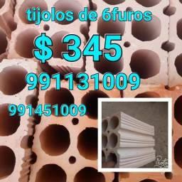 Vendemos tijolos de 6furos qualidade e bom preço