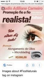 Promoção microblading + cilios