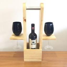 Porta taças e vinho. lindo presente de Natal