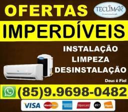 Assistência técnica, instalação, em ar condicionado (85)9.9698-0482