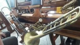 Trombone baixo pistos e vara