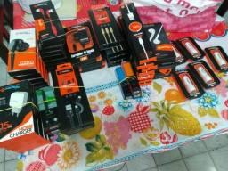 Acessórios fone/carregador/cabos USB etc.