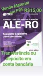 Concurso Assembleia Legislativa do Estado de Rondônia