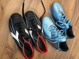 Chuteiras Adidas Messi e Diadora