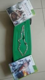 Skate pennyboard, cordão de prata maciça e jogos Xbox