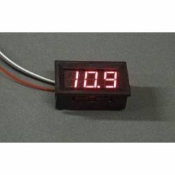 Voltimetro digital medidor bateria moldura vermelho remote