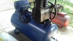 Compressor de ar 20 pés, PEG. 250 litros.