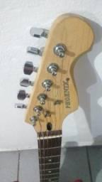 Guitarra strato PHX+ Pedal Boss e acessórios
