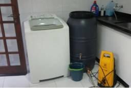 Cisterna 240 Litros P/ Coleta Calha Chuva ou Maquina Lavar - Duas Saídas Torneira e Regist