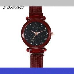 Relógio Feminino - Pulseira Magnética qdbnk gnflk