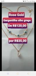 2 Gargantilhas NOVAS por R$60,00,1 por R$35,00