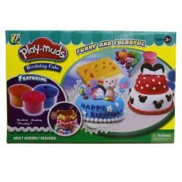 Massinha de Modelar com Moldes - Play Muds Cake