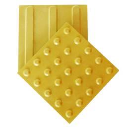 Piso tátil, Alerta e direcional, ladrilho hidráulico, concreto industrial amarelo