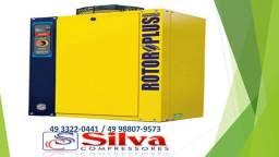 Compressor parafuso Rotor 6HP Trifásico Sem reservatório Metalplan