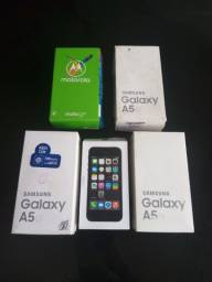 Caixas celulares A5 G5 plus iPhone 5s