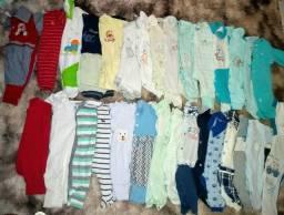 Lotes roupas BB masculino 0 até 6 meses