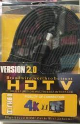 Grande promoção Cabo HDMI 5 metros 2.0 muito reforçado e ótima transferência