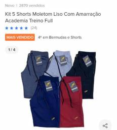 Shorts moletom liso