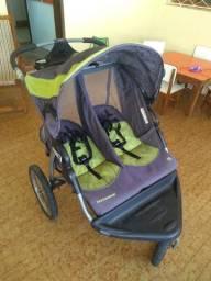 Carrinho de gêmeos Baby Trend Expedition Double Jogger Stroller, Carbon