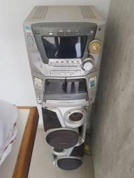 Título do anúncio: Aparelho de som Panasonic 5 Cd's