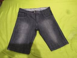 Bermuda jeans preta (42)