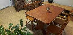 Título do anúncio: Mesa e cadeira de Madeira maciça