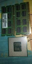 Kit processador + pente de memória ram