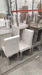 Cadeira de Jantar Marron e Bege - Vitrine