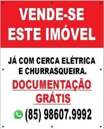 Casa em Itaitinga com Churrasqueira, cerca elétrica e Documentação Grátis.